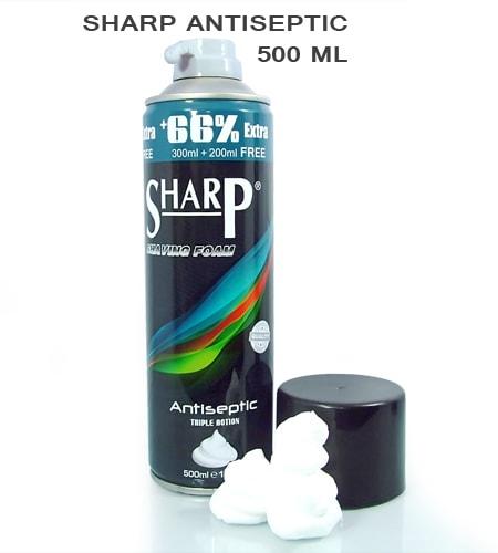 [:bd]Sharp Antiseptic Shaving Foam 500ml[:]